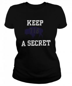 Buffalo Bills 716 Keep A Secret 2021  Classic Women's T-shirt