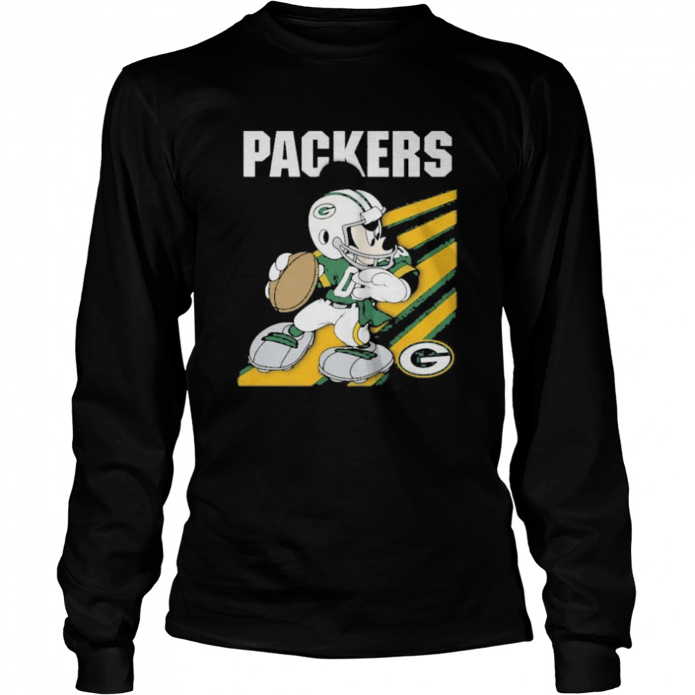 Green bay packers mickey mouse 2021 Long Sleeved T-shirt