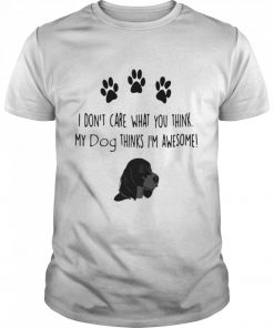 I don't care what you think my dog thinks I'm awesome  Classic Men's T-shirt