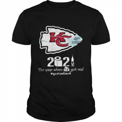 Kansas City Chiefs face mask 2021 toilet paper the year when got real quanrantined  Classic Men's T-shirt