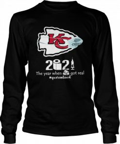 Kansas City Chiefs face mask 2021 toilet paper the year when got real quanrantined  Long Sleeved T-shirt