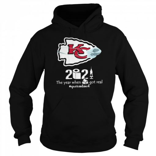 Kansas City Chiefs face mask 2021 toilet paper the year when got real quanrantined  Unisex Hoodie
