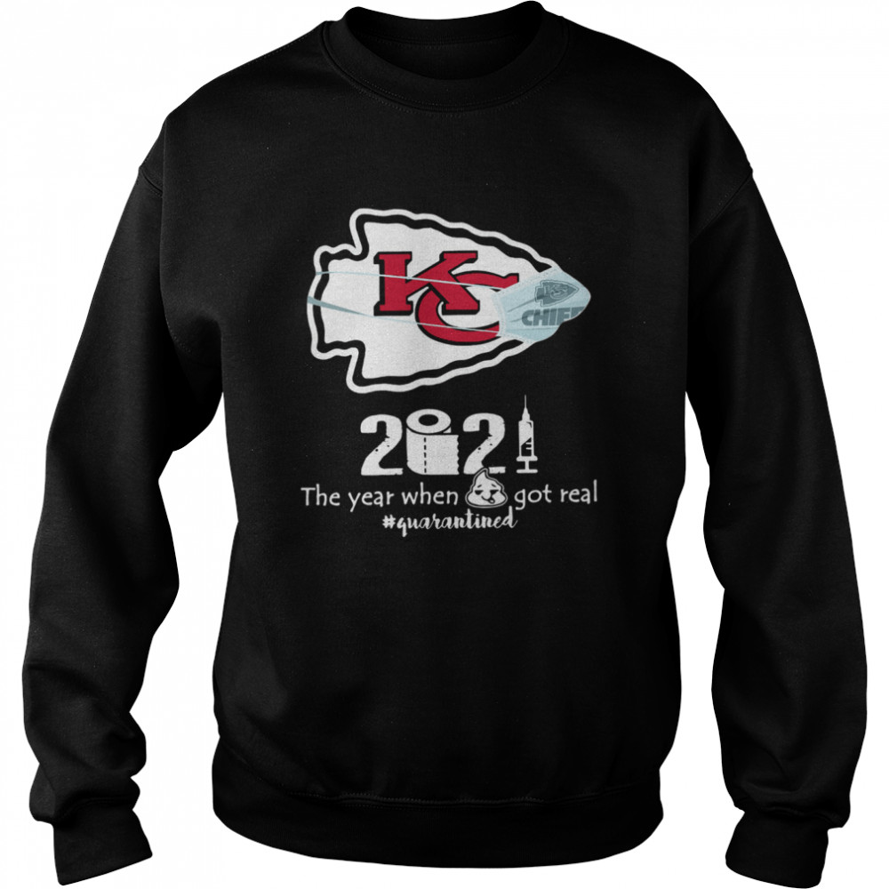 Kansas City Chiefs face mask 2021 toilet paper the year when got real quanrantined Unisex Sweatshirt