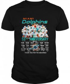 Miami Dolphins 55th anniversary 1966 2021 thank you for the memories signatures  Classic Men's T-shirt