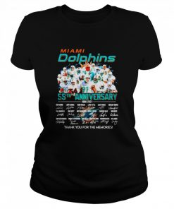 Miami Dolphins 55th anniversary 1966 2021 thank you for the memories signatures  Classic Women's T-shirt