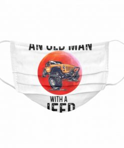 Never Underestimate An Old Man With A Jeep  Cloth Face Mask