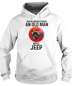 Never Underestimate An Old Man With A Jeep  Unisex Hoodie