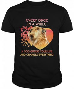 Shih Tzu Every Once In A While A Dog Enters Your Life And Changes Everything  Classic Men's T-shirt