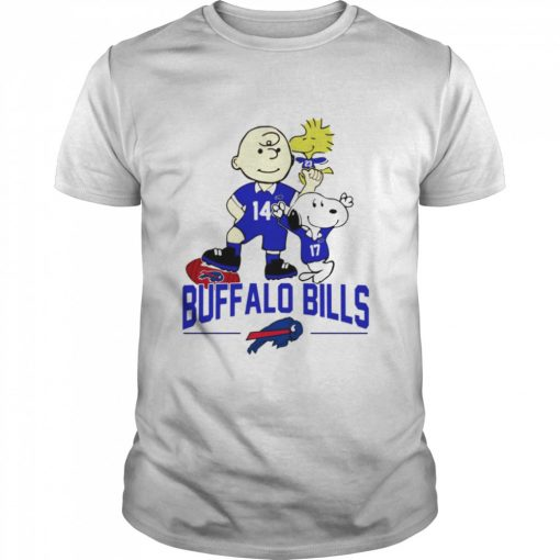 Snoopy and Charlie Brown Buffalo Bills  Classic Men's T-shirt
