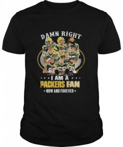 green bay packers damn right i am a packers fan now and forever 2021  Classic Men's T-shirt