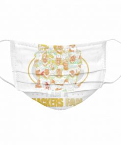 green bay packers damn right i am a packers fan now and forever 2021  Cloth Face Mask