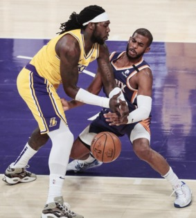 Short-handed Lakers fall short against Suns in feisty game