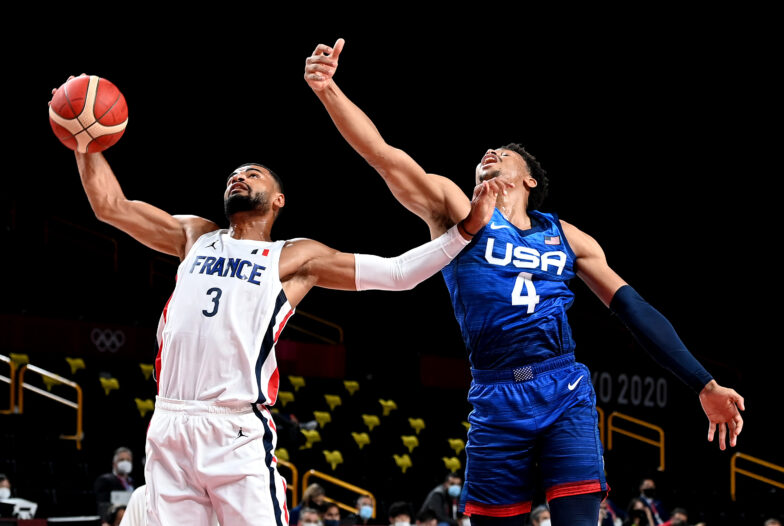 US loses to France 83-76 25-game Olympic win streak ends